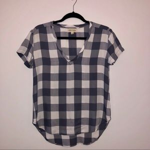 Cloth & Stone Short Sleeve Gingham Pattern Shirt